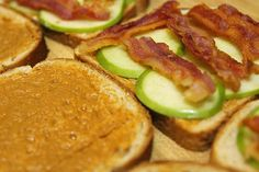Peanut Butter, Apple and Bacon Sandwich!
