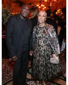 Edward Enninful, Fashion & Style Director de W Magazine et Franca Sozzani, rédactrice en chef de Vogue Italy