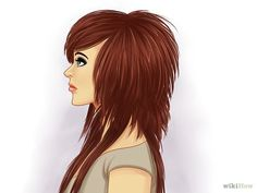 5 Ways to Style Scene Hair - wikiHow Ooh I'm REALLY in love with this hair! Wish I had that haircut and colour ♥: