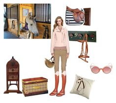 """""""Dusky Pink & Taupe"""" by stylemyride on Polyvore featuring C'N'C, Barbour, Balenciaga, Dot & Bo and Fendi"""