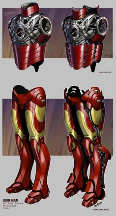 Iron Man suit design by Phil Saunders