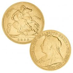 ½ Sovereign Queen Victoria mit Schleier, 916er Gold, Feingewicht 3,99 Gramm, Ø 19mm