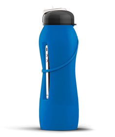 Take a look at this Blue Velvet 18-Oz. Beat Bottle by Ad-N-Art on #zulily today! Perfect for those All- Inclusive resorts! Keeps your phone AND your drink!