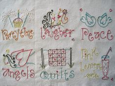 Snip Snap Scraps: WIP Wednesday (embroidery)  #embroidery