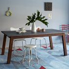 Mix + Match Table - Solid Wood Base /Stainless Steel Top | west elm
