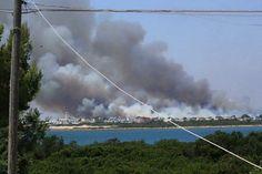 Vasto incendio a San Pietro in Bevagna