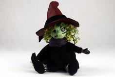 Halloween-Kunst OOAK Puppe ETHEL Puppe von Linas4oClockFriends