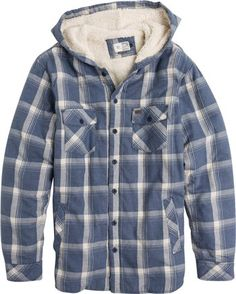 Hooded and sherpa lined flannel. http://www.swell.com/New-Arrivals-Mens/RIP-CURL-HAYWARD-LS-HOODED-FLANNEL?cs=NV