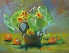 capucines Marie-France Oosterhof 50x65 cm