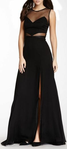 Sheer Slit Maxi Dress ♡ for those special occasions