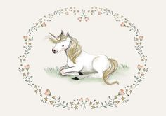 Unicorn - Animal Art - Holli - Nursery Wall Art - Nursery Decor - Childrens Art…