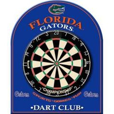University of Florida Gators Dart Board Back, Game Room Equipment