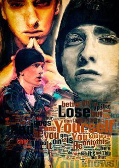 Print Eminem music poster portrait  Birthday Gift art от Artistico