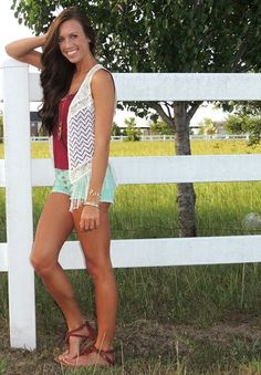 summer outfit...crochet vest. http://www.studentrate.com/fashion/fashion.aspx