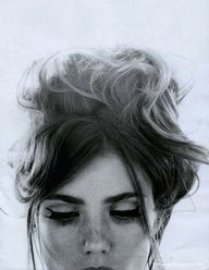 Ever folded your hair into a messy top-knot? Wear some liquid eyeliner on the top lid and heavy mascara!