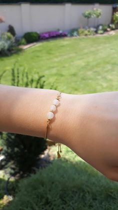 Adjustable slip bracelet with crystals – AG 925 silver 24 Kt gold plated - international shipping