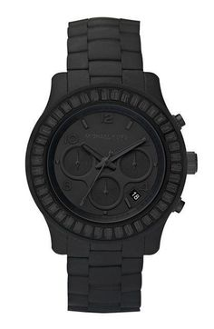 Michael Kors matte black watch - I love anything this man does in watches! Outlet Michael Kors, Sac Michael Kors, Michael Kors Black, Michael Khors, St Michael, How To Have Style, My Style, Style Men, Hippie Style