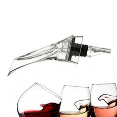 Wine Aerator Pourer Premium Aerating Pourer and Decanter Spout * Details can be found by clicking on the image.