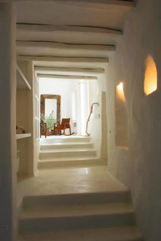 The Greek Aesthetic -could work for a strawbale house interior?