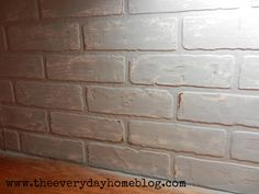 Painting a Faux Brick Backsplash and Adding decorative Corbels by The Everyday Home Blog