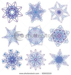Abstract Christmas snowflake consisting of set of elements - stock vector