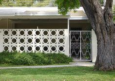 Modern Charlotte - decorative concrete block and entrance gate