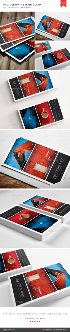 Photographer Business Card  Vol.55 — Photoshop PSD #photographer #light • Available here → https://graphicriver.net/item/photographer-business-card-vol55/16598483?ref=pxcr
