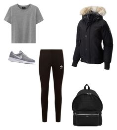 """""""Untitled #284"""" by lignonolivia on Polyvore featuring adidas Originals, NIKE, SOREL and Yves Saint Laurent"""