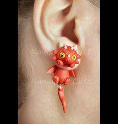 Pendientes Red Dragon Cuelgaorejas