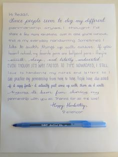 More penmanship styles with ballpoint - Imgur