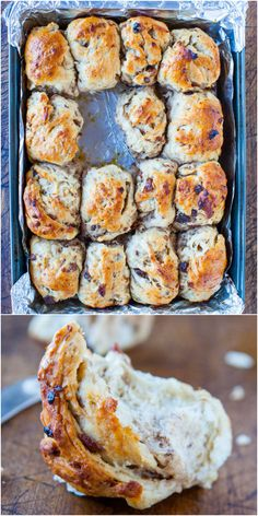 Oatmeal Raisin Rolls - these soft & chewy rolls are made with healthy oats & brushed with honey!