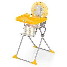 Brevi Chaise haute bébé extra pliante junior voyage jaune