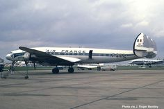 Super Constellation F-BHML in service with Air France at London's Heathrow Airport in the mid-1960's