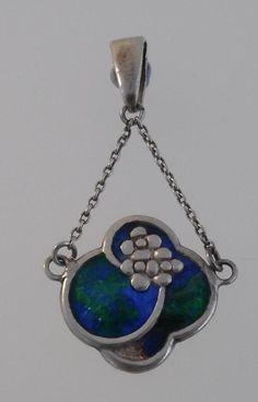 Original Charles Horner 1923 Art Nouveau Silver & Enamel Pendant/Necklace (B55)  | eBay