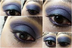 Today's post is Blue and Purple smokey eyes ... I sported this for New Years eve ..though we did not go out anywhere, just had dinner at our friends place but I wanted to do something fancy .. so here it my New Year's EOTD ..