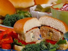 Blue Cheese-Stuffed Turkey Burgers from FoodNetwork.com