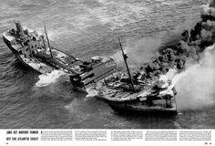 1942 ... torpedoed tanker. LIFE