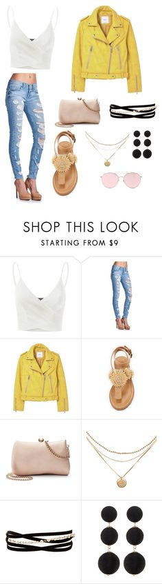 """""""Walking on sunshine"""" by carlie53480 ❤ liked on Polyvore featuring Doublju, MANGO, Bettye, LC Lauren Conrad, Kenneth Jay Lane, Cara and LMNT"""