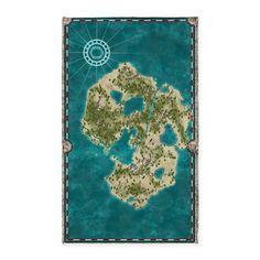 Pirate Adventure Map 3x5' Area Rug on CafePress.com