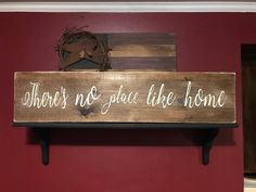 Home sign, Theres no place like home, There's no place like home, There's no place like home sign, Home wood sign, No place like home sign by 1heartcreationsOhana on Etsy