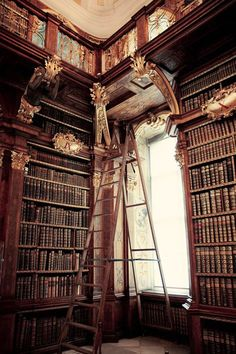 Beautiful Libraries and Bookshops...Melk Abbey Library, Vienna, Austria, photo via petits.