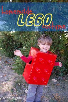 DIY Lego Costume!  Small effort, big impact!! via www.WineandGlue.com