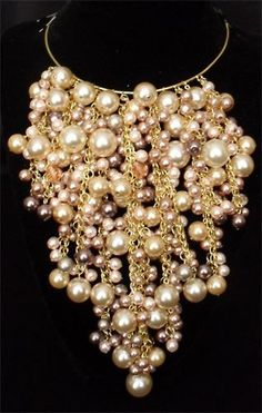 Waterfall Pearl Necklace by Designer Sarah Cussons