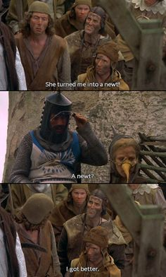 A newt… Oh Monty Python and the Holy Grail. The most quote-able movie in cinematic history.