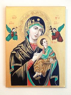 Religious icon for Easter present? Our Lady of Perpetual Help by EveryLittlePrayer, £350.00
