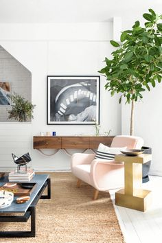 Furniture shop interior with blush pink chair Consort Design, Farmhouse Side Table, D House, Cute Dorm Rooms, Nyc, Interiores Design, Home Interior Design, Flat Interior, Interior Shop