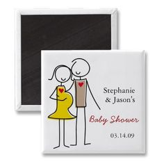 Gender Neutral Coed Baby Shower Magnets by babydio for the invitations