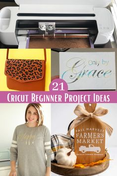 A list of 21 Beginner Cricut Projects to help you learn to use your cutting machine. You will find projects to help you learn how to apply vinyl to wood, use infusible ink, make your own t-shirt designs, make paper flowers, create your own home decor, craft a personalized gift,make a seasonal banner, make your own pantry lablels, and more. Tips for finding supplies and blanks included. #Cricut #craftvinyl #cricutmade Paper Peonies, Paper Flowers, Vinyl Crafts, Vinyl Projects, How To Apply Vinyl To Wood, How To Make Paper, Crafts To Make, Leopard Print Bag, Cricut Help