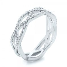 Here is it! The band i want, just in yellow gold!! Three strands. Custom Diamond Criss-Cross Wedding Band