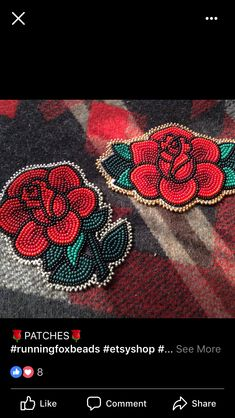 Bead Embroidery Patterns, Bead Loom Patterns, Beaded Embroidery, Beading Patterns, Native Beadwork, Native American Beadwork, Seed Bead Flowers, Beaded Flowers, Beadwork Designs